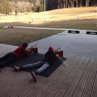 Initiation biathlon et tir carabine laser avec Denis Raynaud