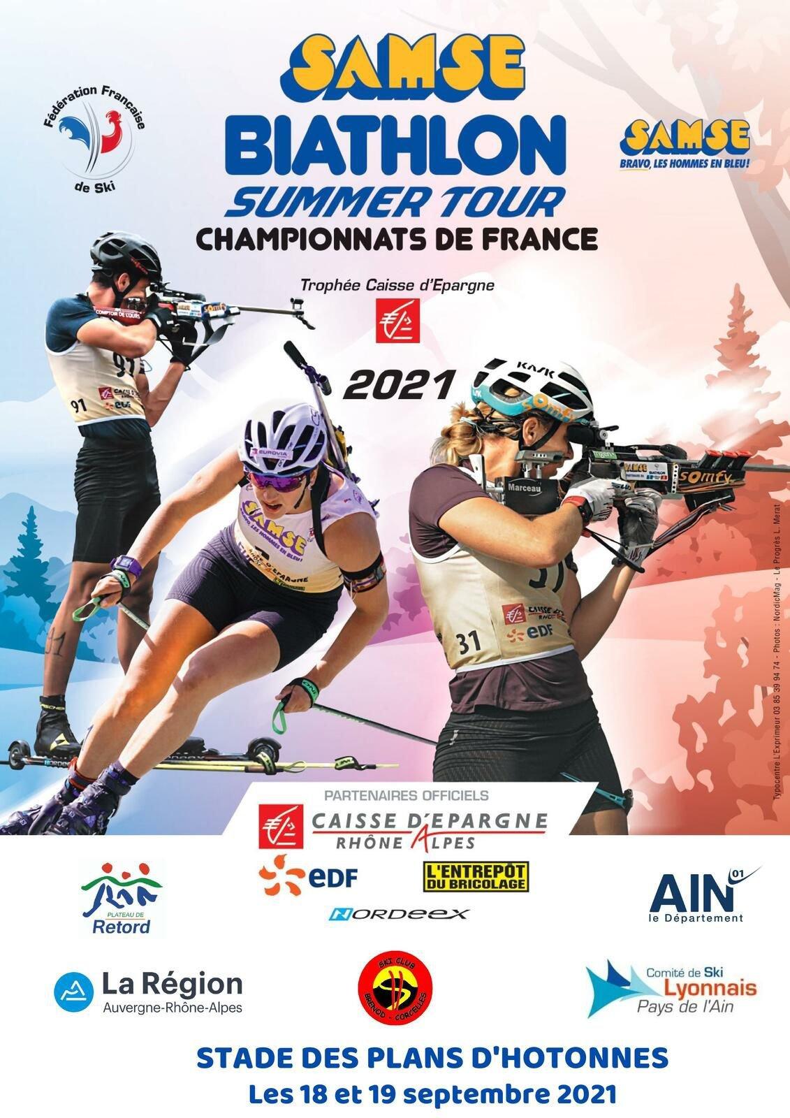 Samse Biathlon Summer Tour aux Plans d'Hotonnes - championnats de France.